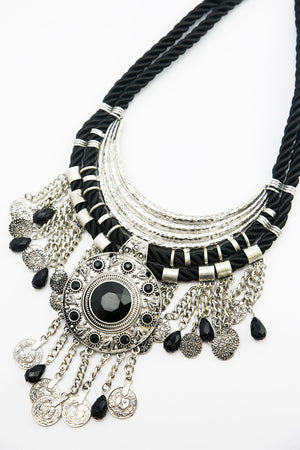Rope Statement Necklace - Haute & Rebellious