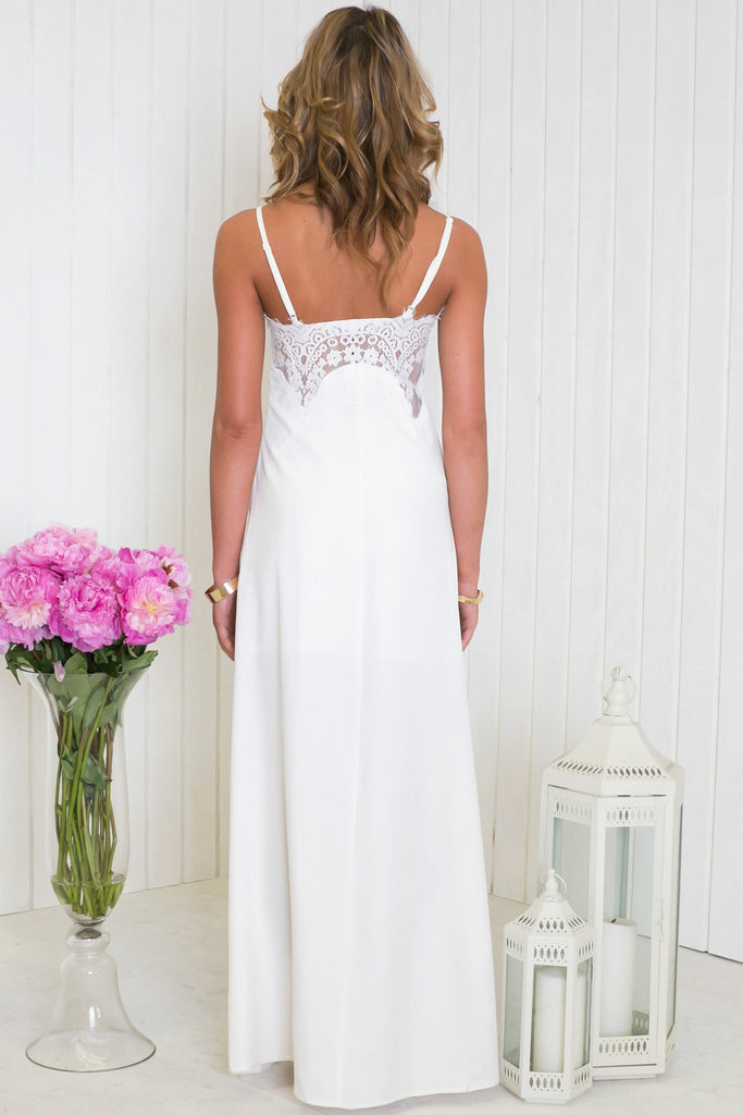 Elanza Slit Lace Maxi Dress