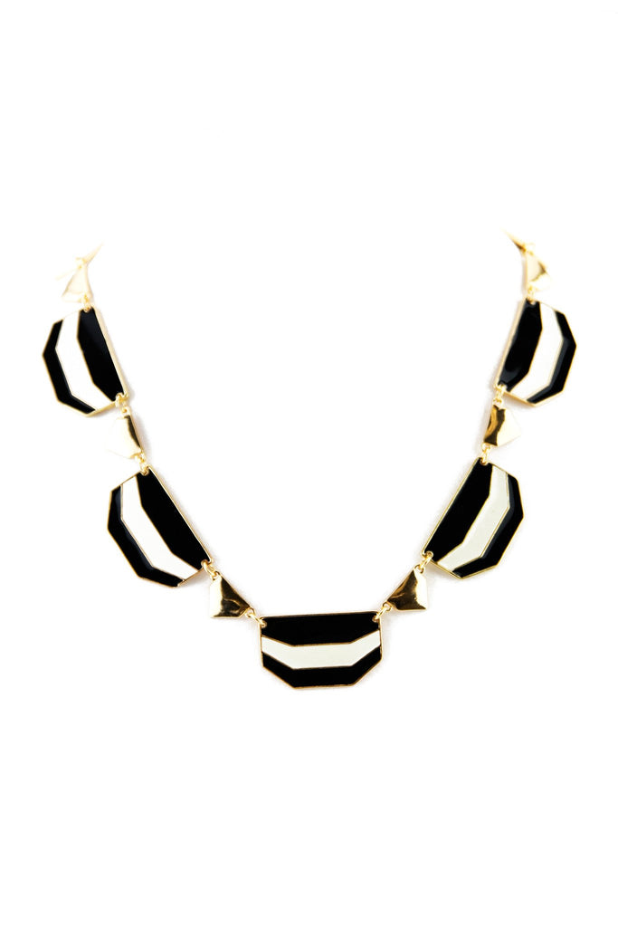 CRAIN STRIPED PLATED NECKLACE