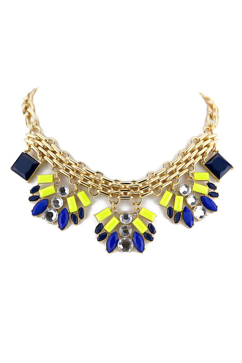 ALAN COLORED STONE NECKLACE - Haute & Rebellious
