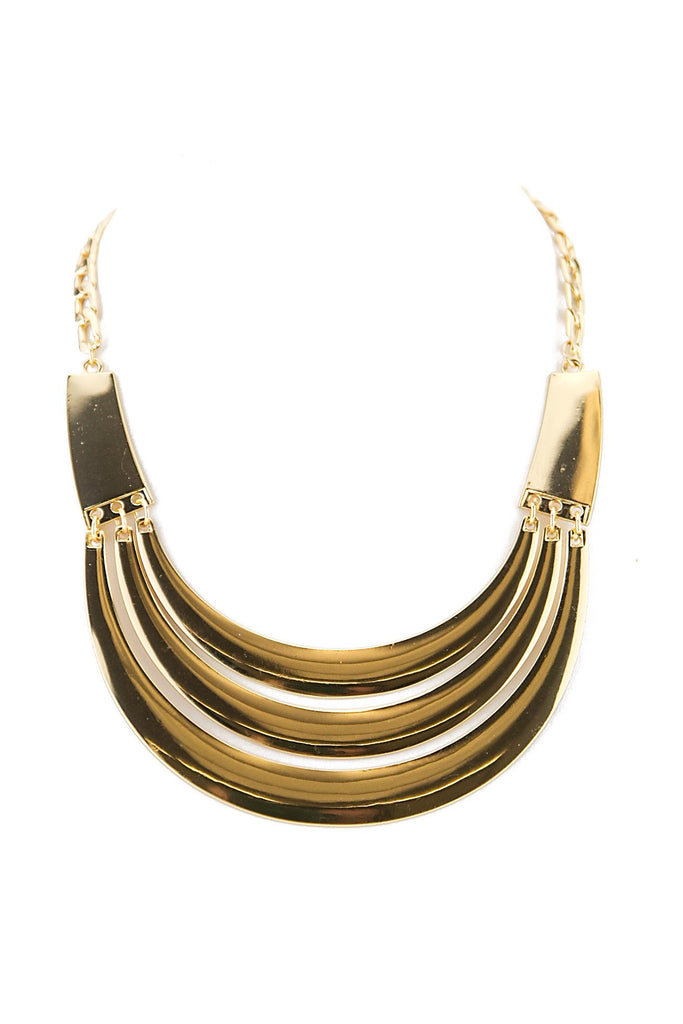 CLEO TRIPLE PLATED NECKLACE