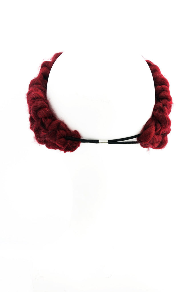 Kina Knitted Headband - Burgundy