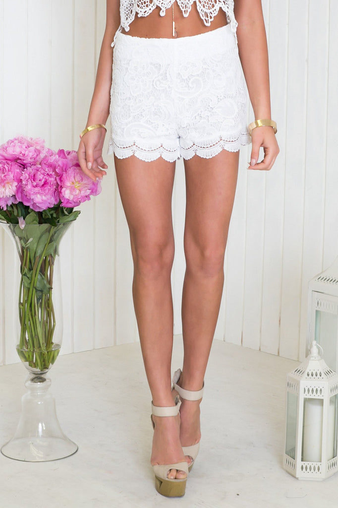 Emslie High-Waisted Lace Shorts - Haute & Rebellious