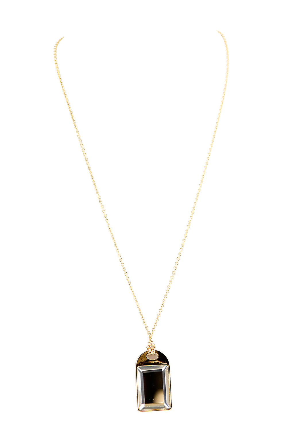 SQUARE CRYSTAL PENDANT NECKLACE - Haute & Rebellious