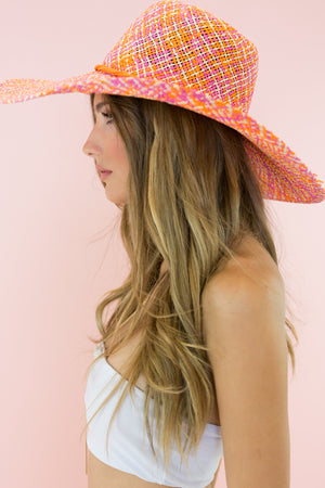 Sunset Park Straw Hat - Pink - Haute & Rebellious