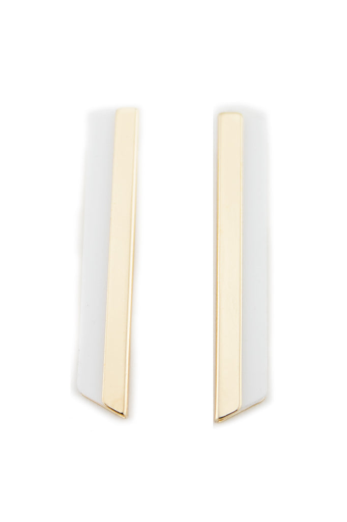 RETO MOD PLATED EARRING - White