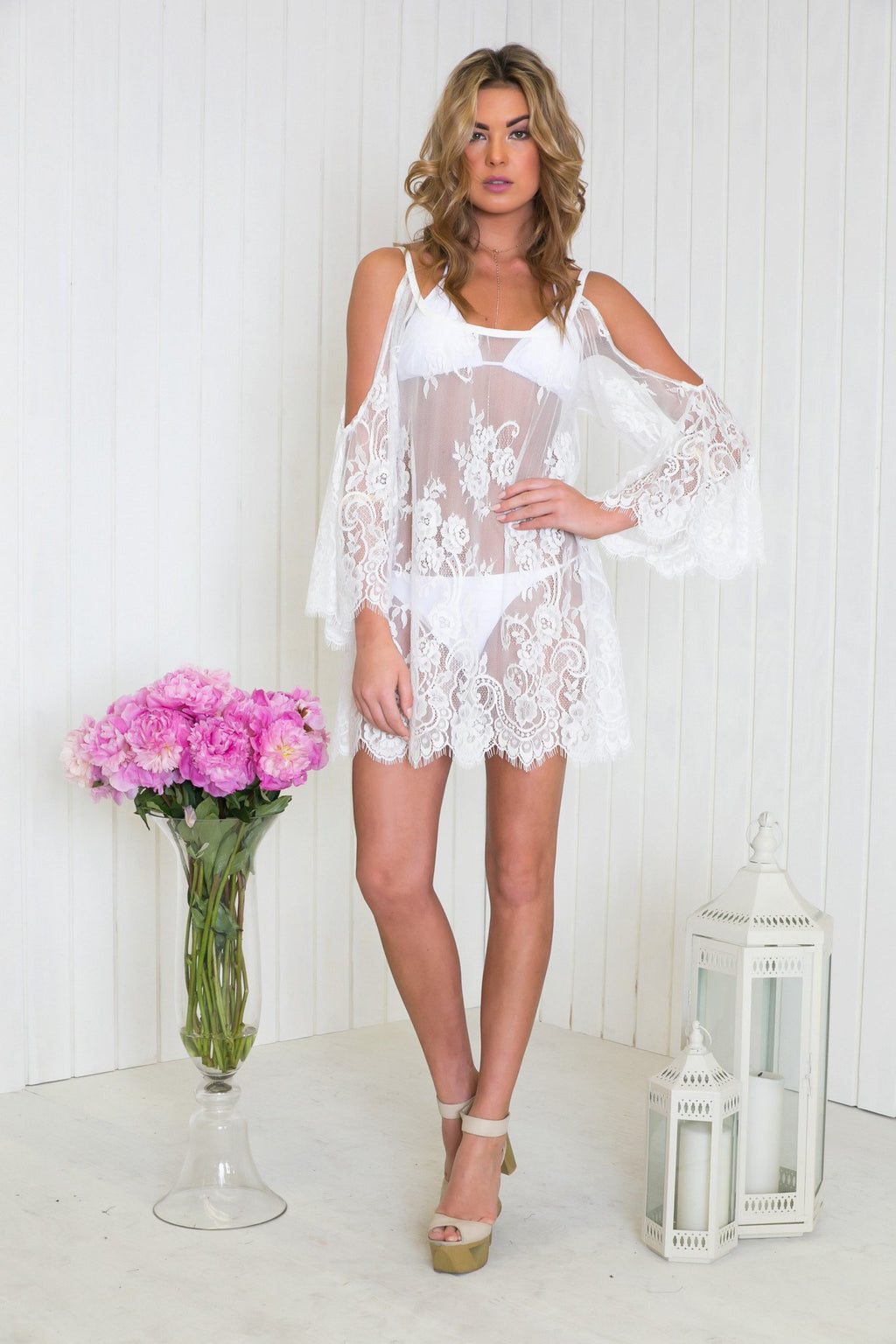 Halana Lace Tunic - White - Haute & Rebellious