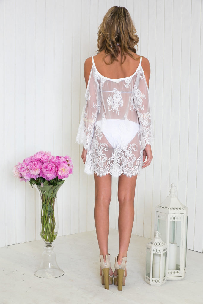 Halana Lace Tunic - White