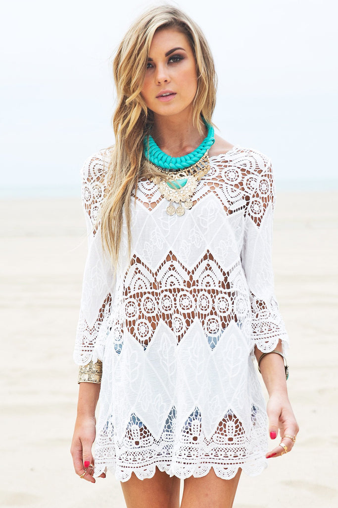 Asha Crochet Tunic Dress