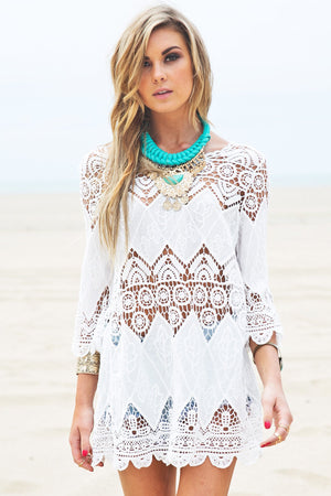 Asha Crochet Tunic Dress - Haute & Rebellious