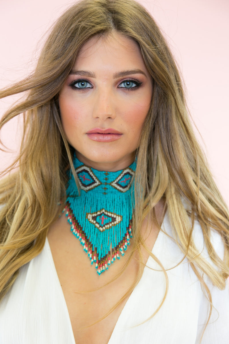 Turquesa Beaded Choker Necklace - Haute & Rebellious
