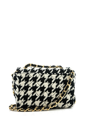 Houndstooth Crossbody Bag - Haute & Rebellious