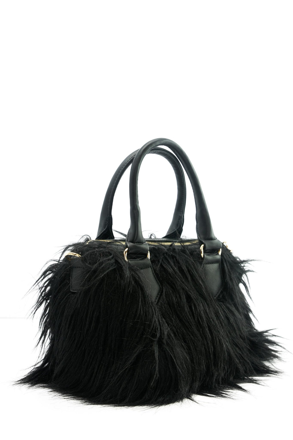 Long Faux Fur Leather Handbag - Haute & Rebellious