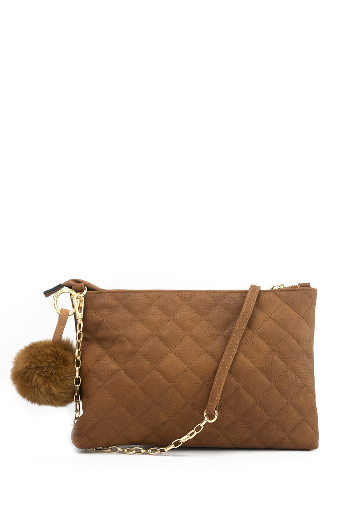 Quilted Leather Carry Clutch