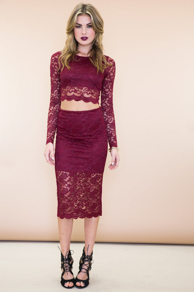 Jade Lace Matching Two-Piece Set
