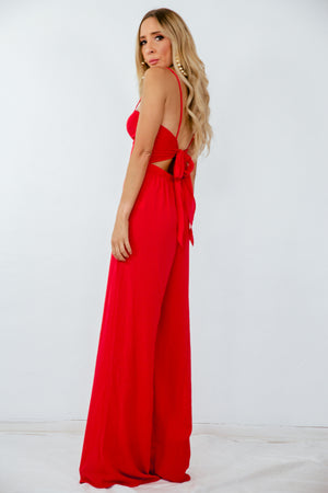 Jumpsuit with Back Tie Detail