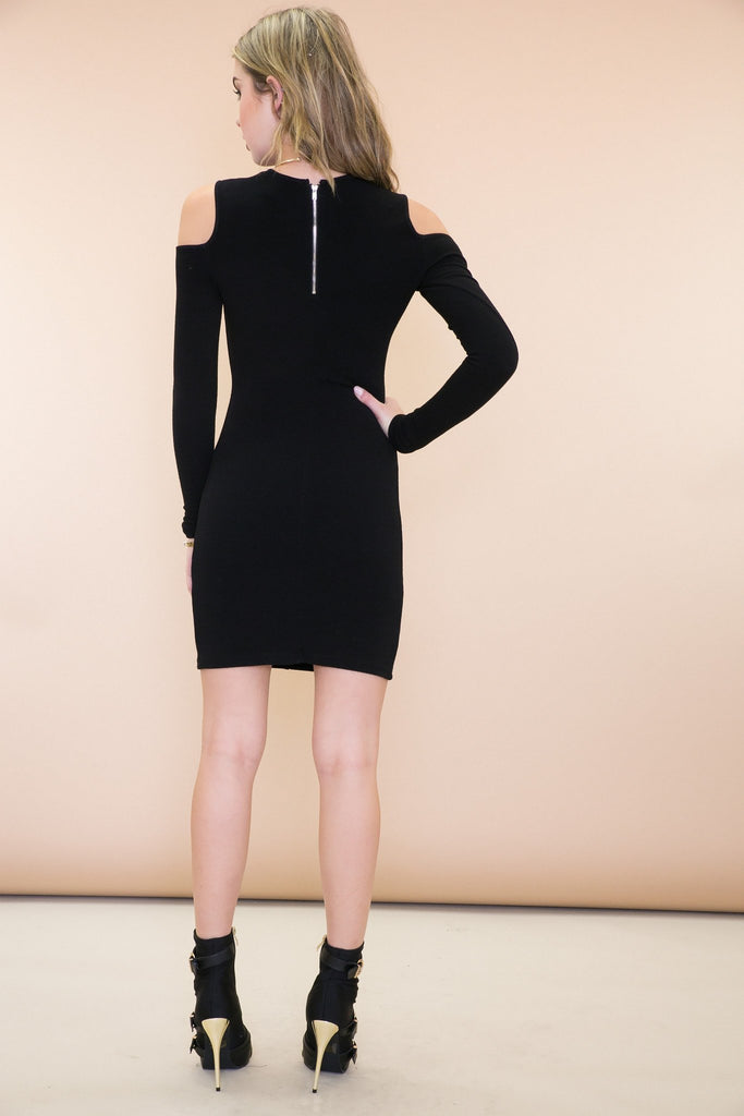 Makayla Cutout Shoulder Dress - Haute & Rebellious