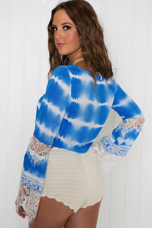 Taryn Bell Sleeve Crop Top - Haute & Rebellious