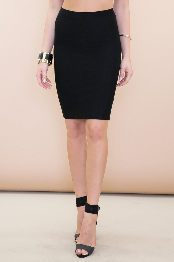Addison Woven Pencil Skirt