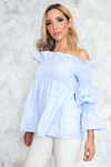 Want It Off Shoulder Striped Top - Haute & Rebellious