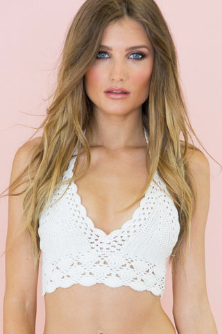 MILEY LACE BODYSUIT - White (Final Sale)