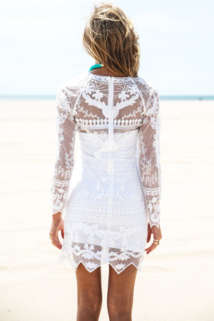 Sadie Long Sleeve Lace Dress - Haute & Rebellious