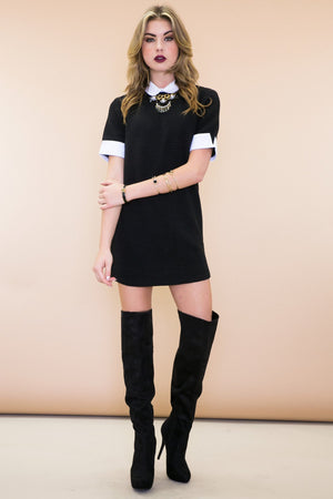 Emma Collared Sweater Dress - Haute & Rebellious