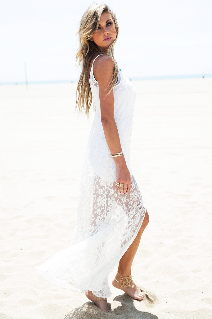 Caidy Lace Dress - Ivory