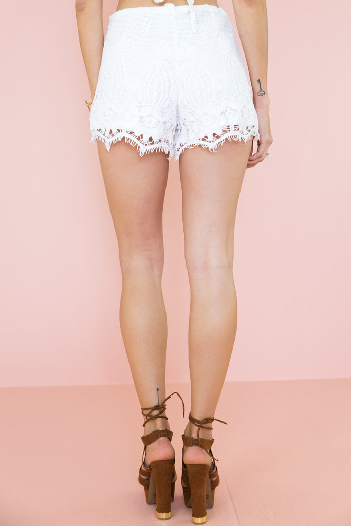 Never Ending High-Waisted Lace Shorts