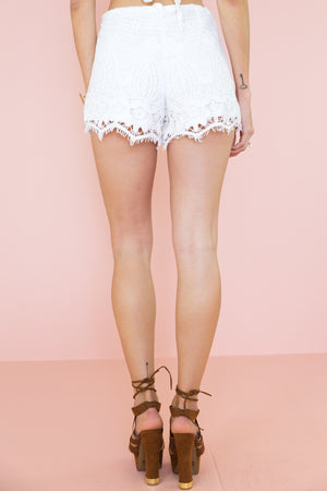 Never Ending High-Waisted Lace Shorts - Haute & Rebellious