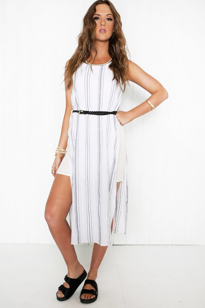 Go Tropic Natural Belted Dress