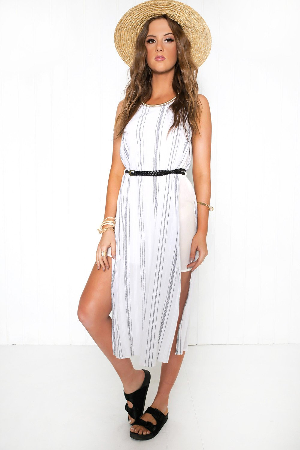 Go Tropic Natural Belted Dress - Haute & Rebellious