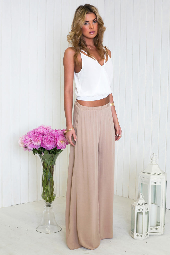 Lacie Chiffon Sleeveless Crop Top