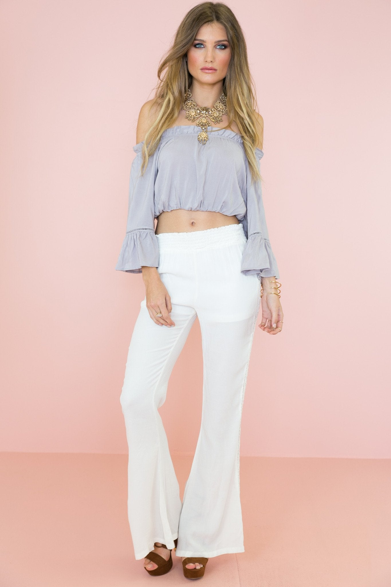 Maddi Lace Contrast Pant /// Only 1-M Left ///