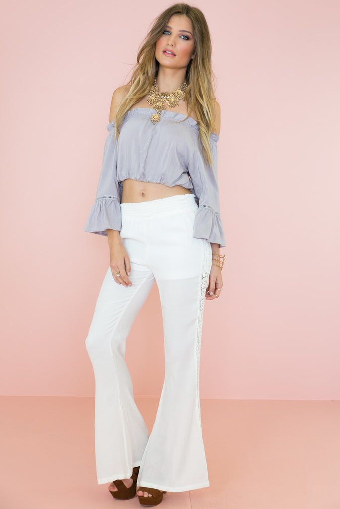 Brandi Bell Sleeve Crop Top