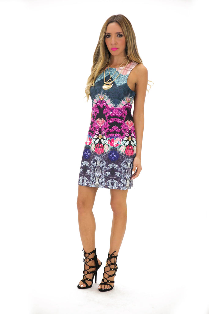 VENA TRIBAL PRINT DRESS