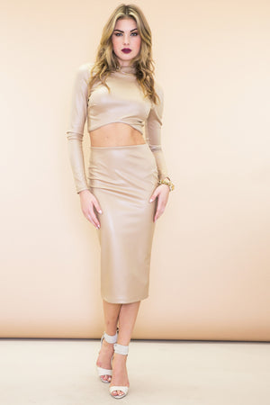 Tala Matching Leather Two-Piece Set - Haute & Rebellious