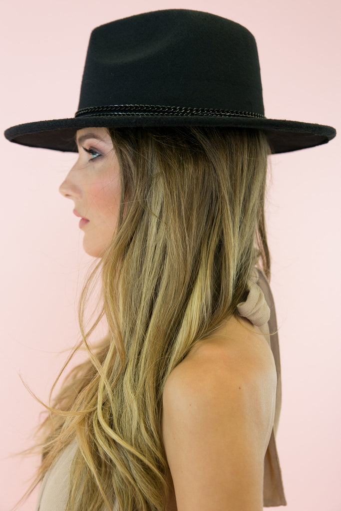Aly Braided Hat - Black