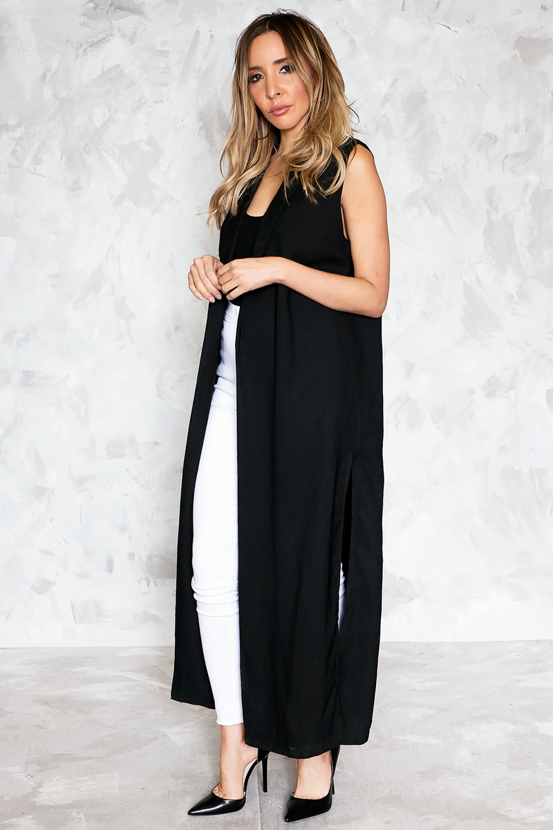 Walk The Talk Sophisticated Long Vest - Haute & Rebellious