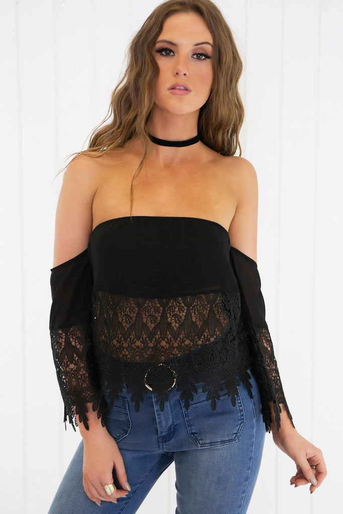 Agata Off the Shoulder Lace Top