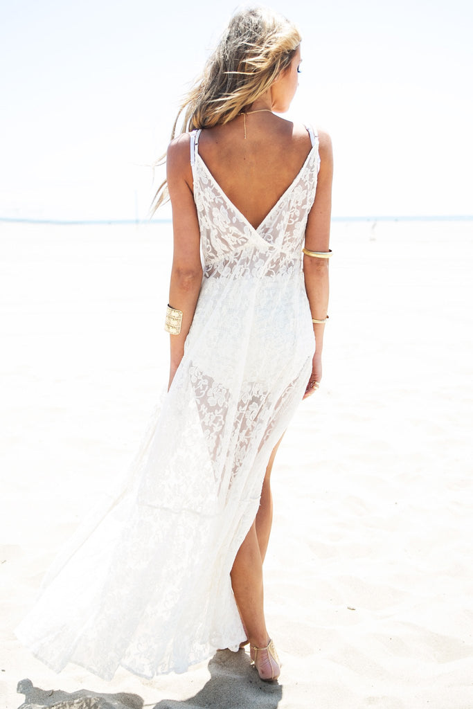 Caidy Lace Dress - Ivory - Haute & Rebellious