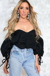 Sure Thing Off Shoulder Ruffle Top - Haute & Rebellious