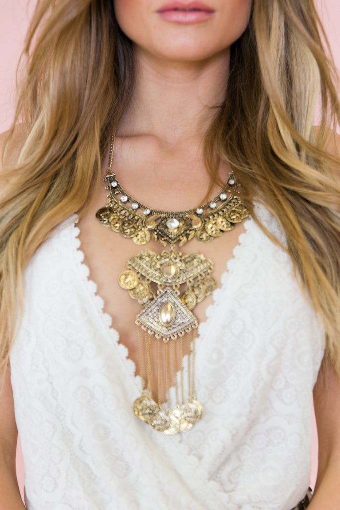 Idella Long Statement Necklace