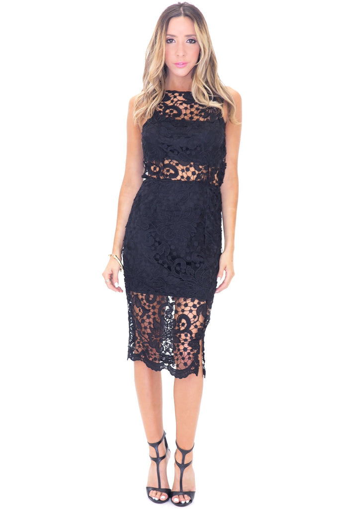 LEXXI EMBROIDERED DRESS