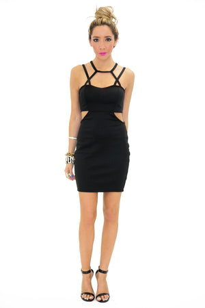 OLIVIA CUTOUT SIDE STRAPPY DRESS - Haute & Rebellious
