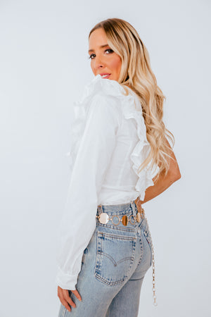 One-Shoulder Ruffle Blouse