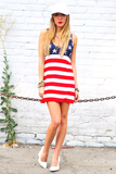 AMERICAN FLAG KNIT TUNIC