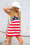 AMERICAN FLAG KNIT TUNIC - Haute & Rebellious