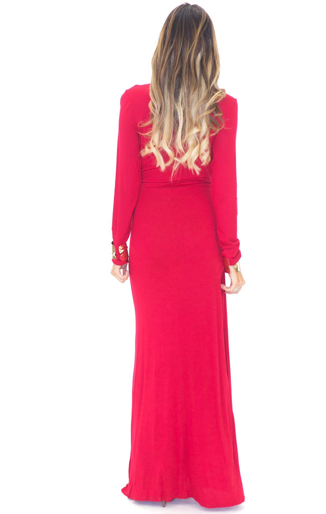 LAUREN DRAPED LONG DRESS - Haute & Rebellious