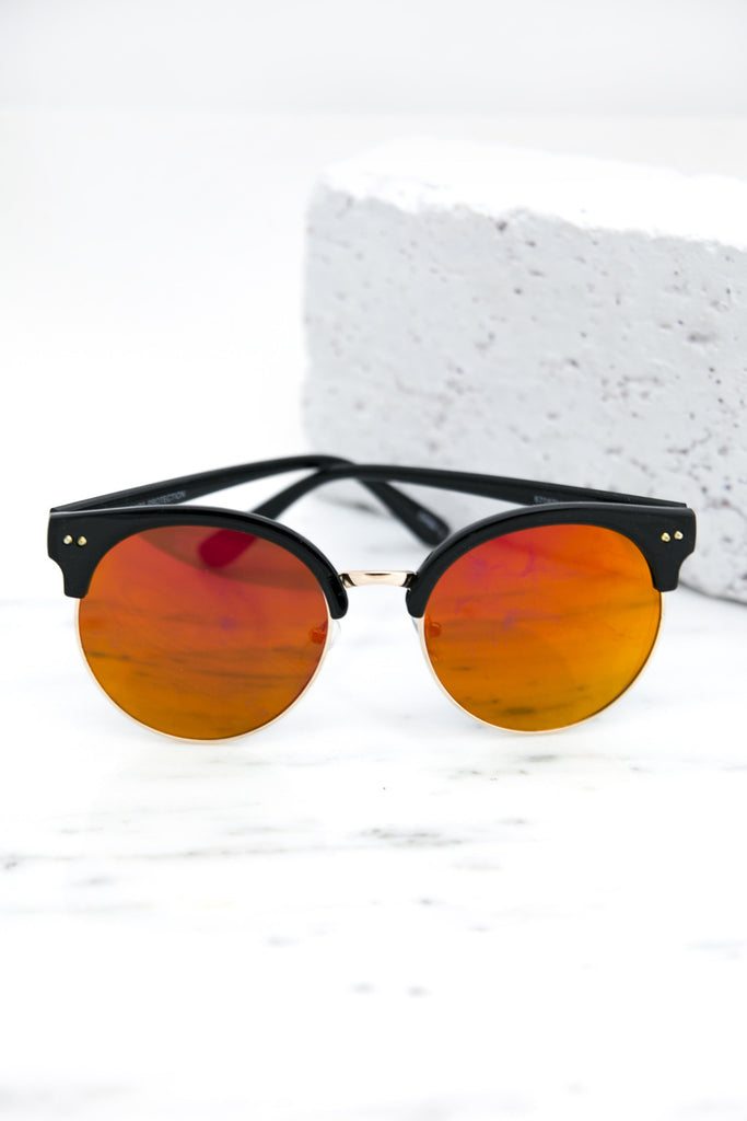 Road Ahead Reflective Sunglasses - Orange